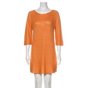 Salvatore Ferragamo Silk Mini Dress 3/4 Sleeve VTG
